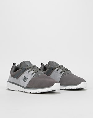 DC Heathrow SE Skate Shoes - Grey/Grey/White