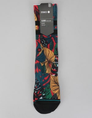 Stance House Plant Classic Crew Socks - Red