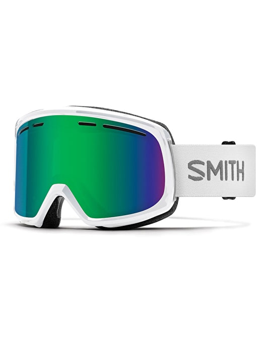 Smith Range 2018 Snowboard Goggles - White/Green Sol-X Mirror