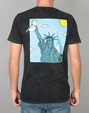 RIPNDIP Liberty T-Shirt - Black Mineral Wash