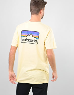 Patagonia Line Logo Badge T-Shirt - Crest Yellow