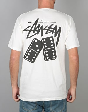Stüssy Dominos Pigment Dyed T-Shirt - Natural
