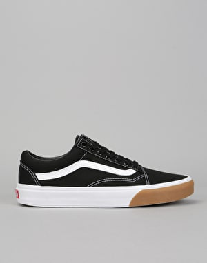 Vans Old Skool Skate Shoes - (Gum Bumper) Black/True White