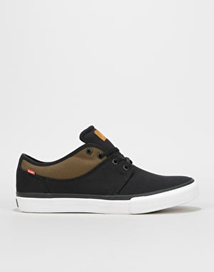 Globe Mahalo Skate Shoes - Black Twill/Olive