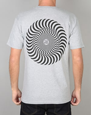 Spitfire Classic Swirl T-Shirt - Athletic Heather/Black