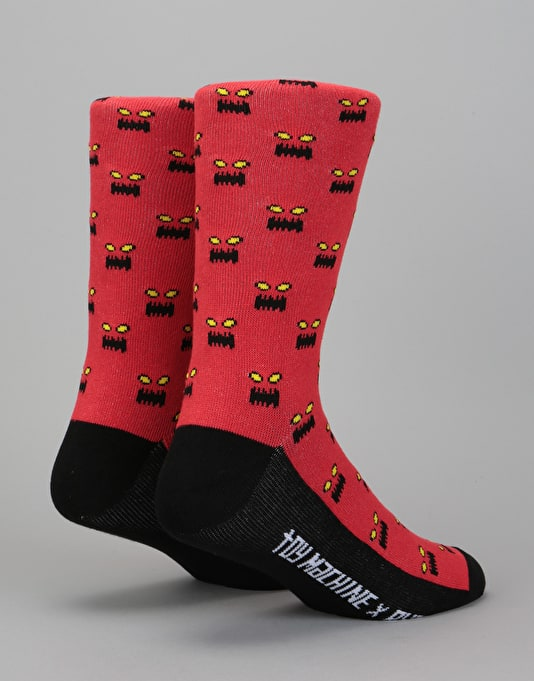 RVCA x Toy Machine Socks - Red