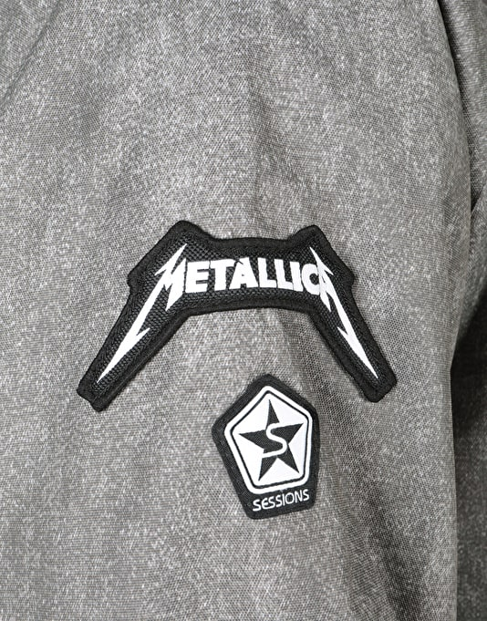 Sessions x Metallica 2018 Snowboard Jacket - Charcoal