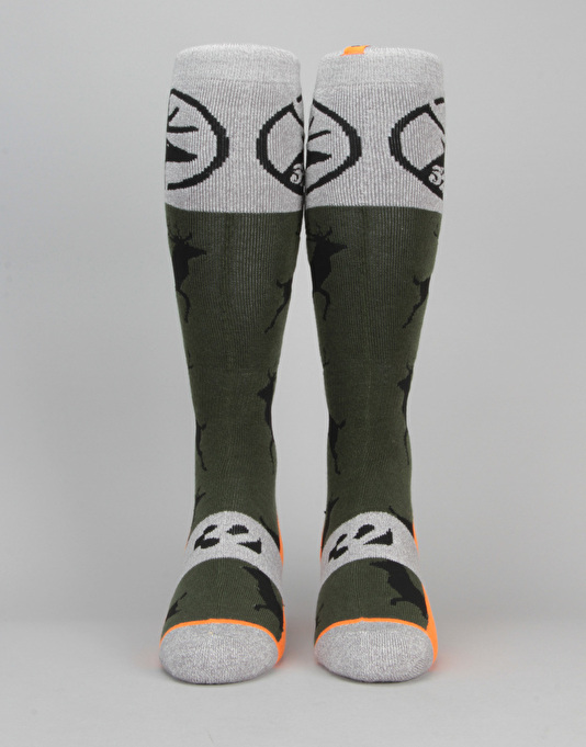 ThirtyTwo Stag Snowboard Socks - Forest