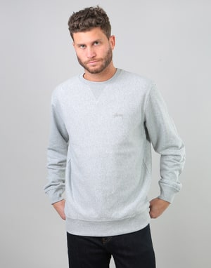 Stüssy Stock L/S Terry Crew - Grey Heather