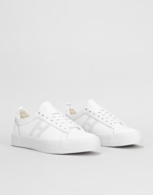 HUF Clive Skate Shoes - White/White