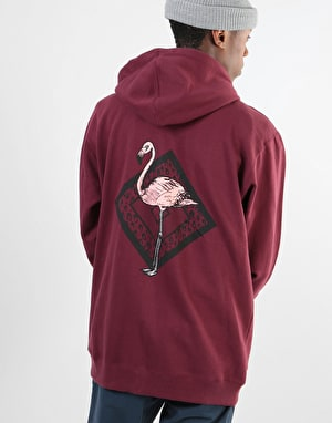 Original Flamingo Zip Hoodie - Burgundy