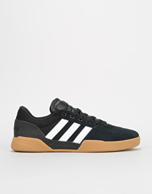 Adidas City Cup Skate Shoes - Core Black/White/Gum