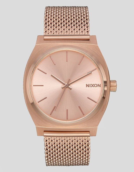 Nixon Time Teller Milanese Watch - All Rose Gold