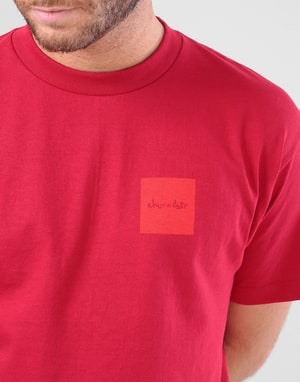 Chocolate Tonal Square T-Shirt - Cardinal