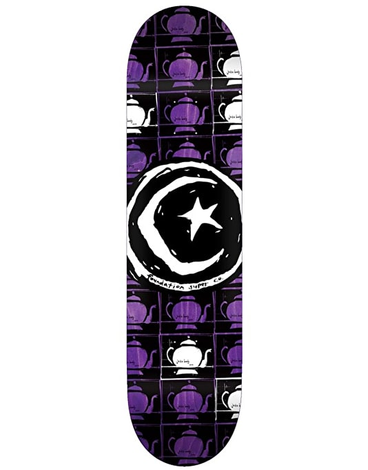 Foundation Star & Moon Tea Repeat Skateboard Deck - 8.25""