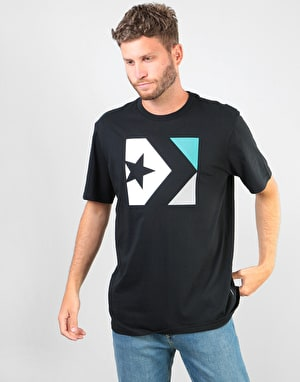 Converse Star Chevron Tri Colour T-Shirt - Black