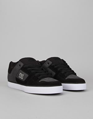 DC Pure SE Skate Shoes - Black/Charcoal