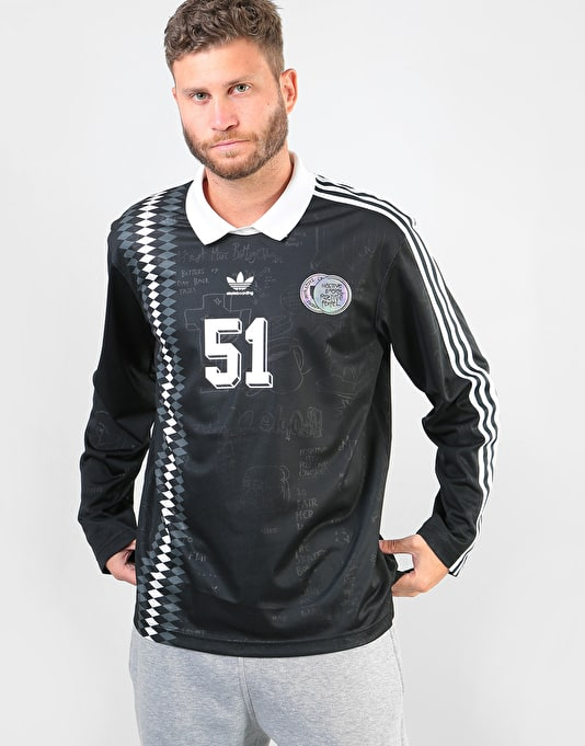 Adidas Johnson (Spain) S/S Jersey - Black/White/Solid Grey
