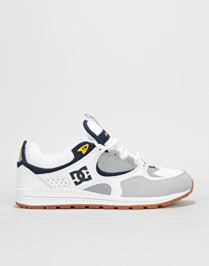 DC Kalis Lite Skate Shoes - White/Grey/Yellow