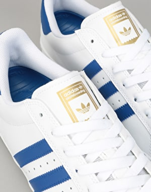 Adidas Superstar Vulc ADV Skate Shoes - White/Collegiate Royal/Gold