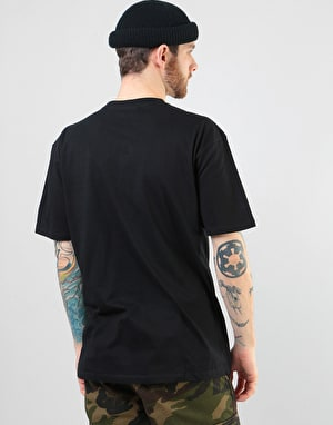 Santa Cruz Check Waste Dot T-Shirt - Black