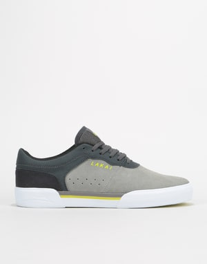 Lakai Staple Skate Shoes - Grey/Charcoal Suede