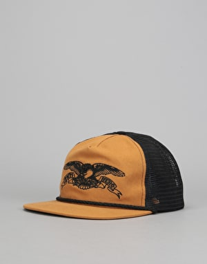 Anti Hero Eagle Emblem Basic Trucker Cap - Tan/Black