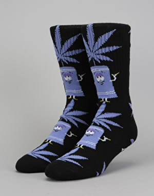 HUF x South Park Towelie Plantlife Crew Socks - Black