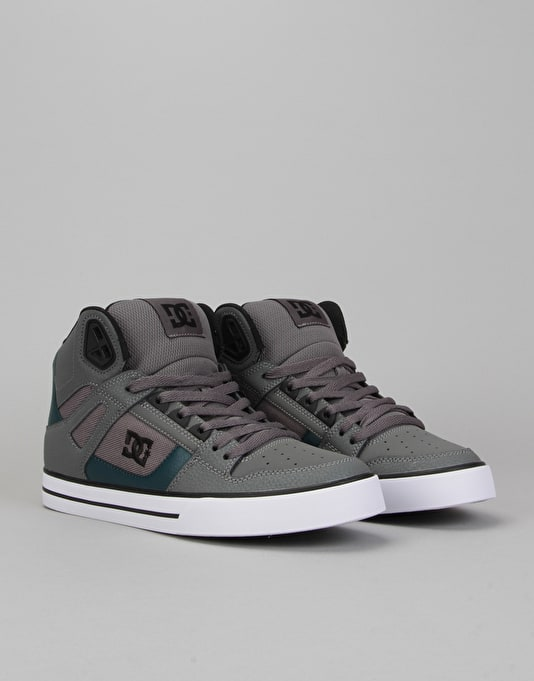 DC Spartan High WC Skate Shoes - Grey/Green