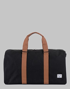 Herschel Supply Co. Ravine Duffel Bag - Black/Tan Synthetic Leather
