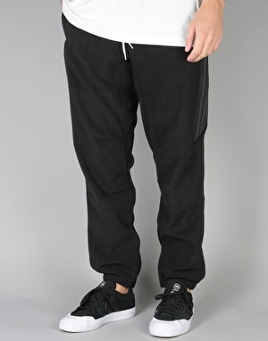 Adidas Fleece Pants - Black/Utility Black/Tactile Gold Metallic