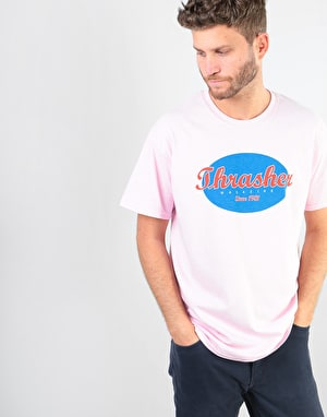 Thrasher Oval T-Shirt - Pink