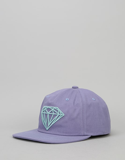 67075c7d5e8 Diamond Supply Co. Brilliant Unconstructed Snapback Cap - Puple ...