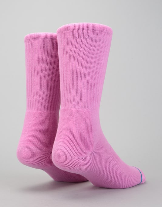 Stance Icon Classic Crew Socks - Saturated Pink