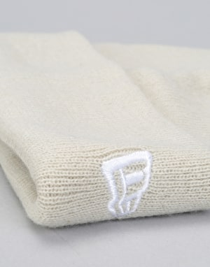 New Era Fisherman Cuff Beanie - Off White