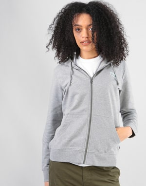 Patagonia Womens Pastel P-6 Label Zip Hoodie - Feather Grey