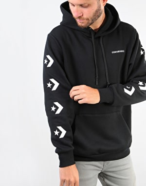 Converse Star Chevron Graphic Pullover Hoodie - Black/White