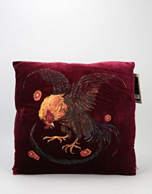 HUF Wild Cock Pillow - Burgundy