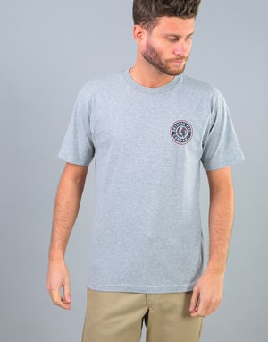 Brixton Rival T-Shirt - Heather Grey/Red
