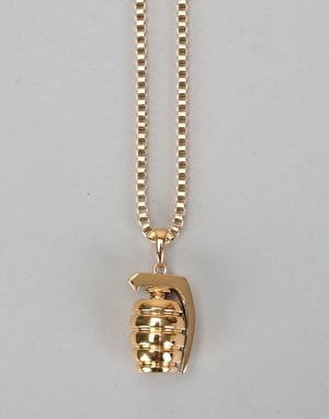Midvs Co 18K Gold Plated Grenade Necklace - Gold