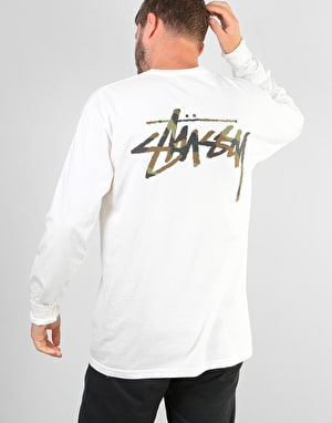 Stüssy Camo Stock Pigment Dyed L/S Pocket T-Shirt - Natural