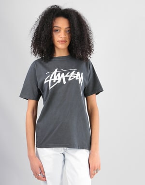Stüssy Womens Old Stock T-Shirt - Black