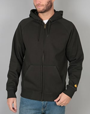 Carhartt Hooded Chase Jacket - Asphalt/Gold
