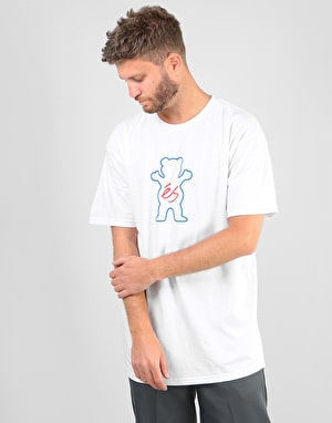 éS x Grizzly Deuce T-Shirt - White