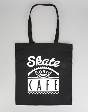 Skateboard Café Diner Tote Bag - Black