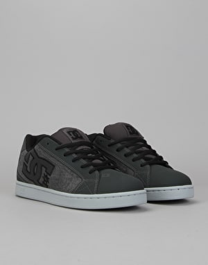 DC Net SE Skate Shoes - Grey Resin Rinse