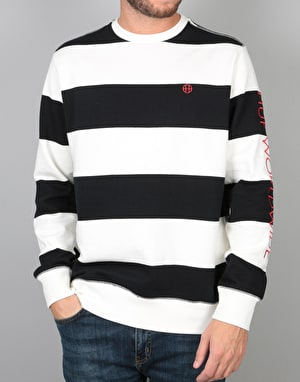 HUF Catalina Stripe Crew Fleece - Black