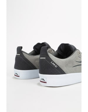 Lakai Bristol Skate Shoes - Light Grey/Charcoal Suede