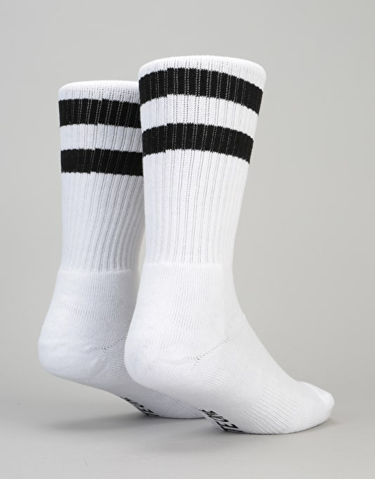 Route One Classic Crew Socks 2 Pack - White/White