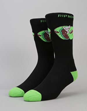 RIPNDIP In My Mind Socks - Black/Green